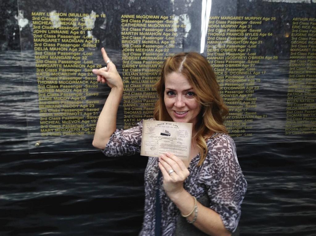 Juliana Dever at Titanic Museum