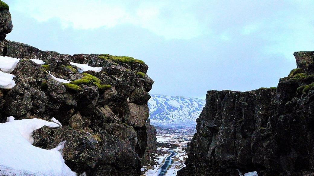 Techtonic Plate rift, Thingvillr Park, Iceland