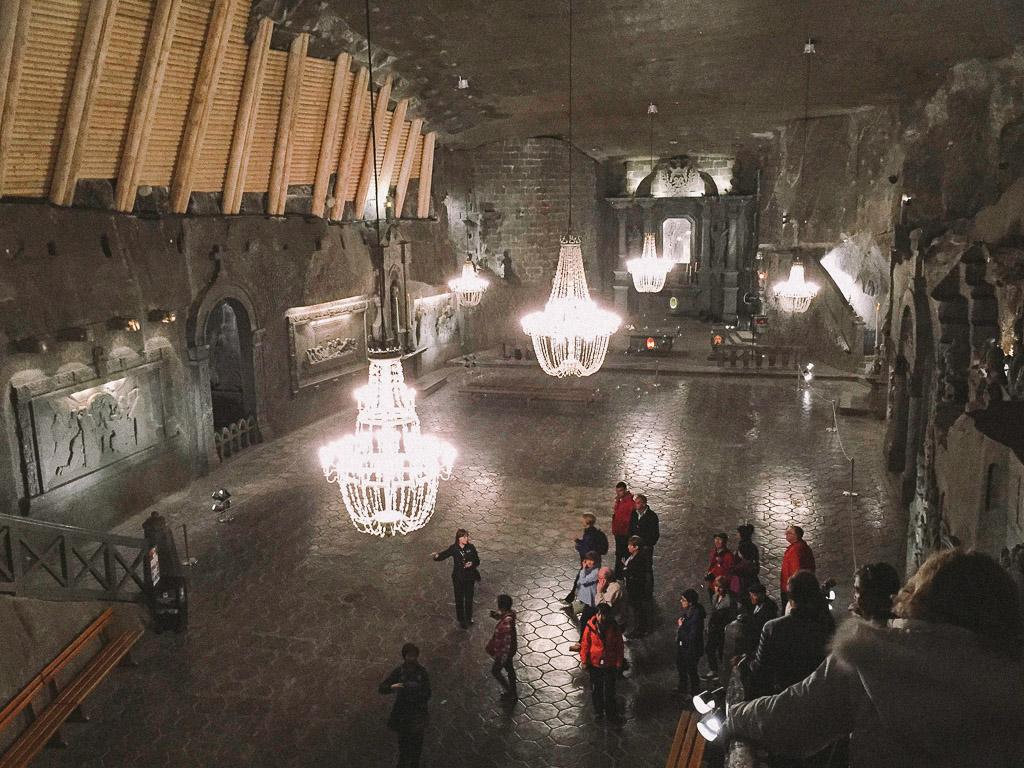 Underground salty ballroom the Wielicka Salt Mines