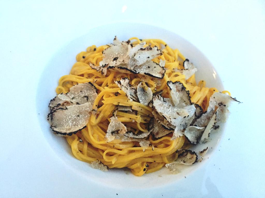 Tajarin, a regional pasta in Piedmont's wine country