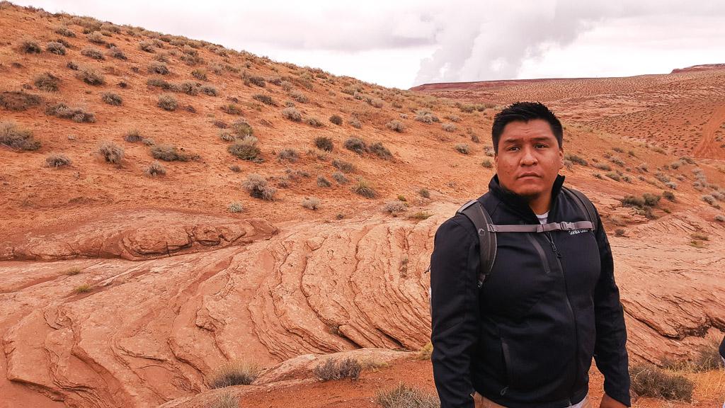 Antelope Canyon - Raymond M Chee Jr Native American tour guide