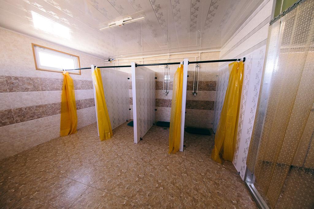Showers at the get camps - Mongolian Gobi Desert