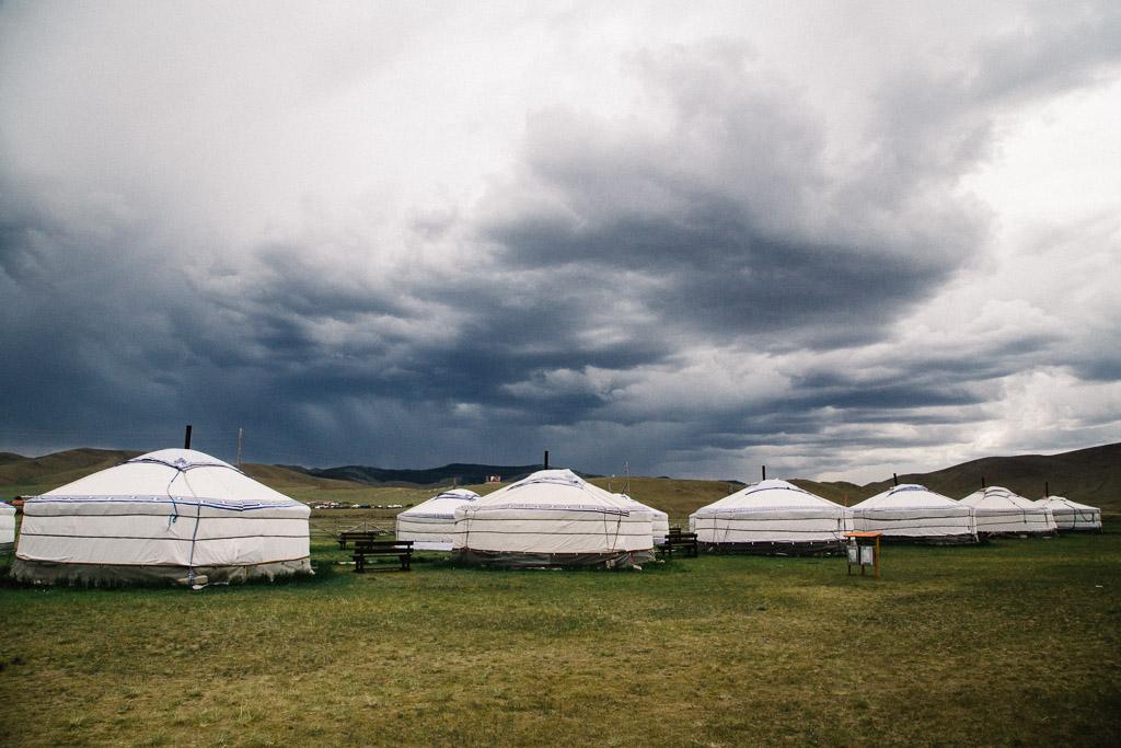 Ger camps in Karakoram, Mongolia