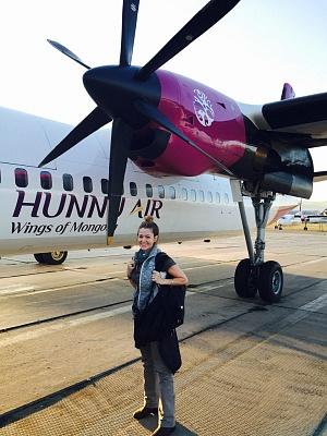 Traveling to Mongolia - Propeller Plane