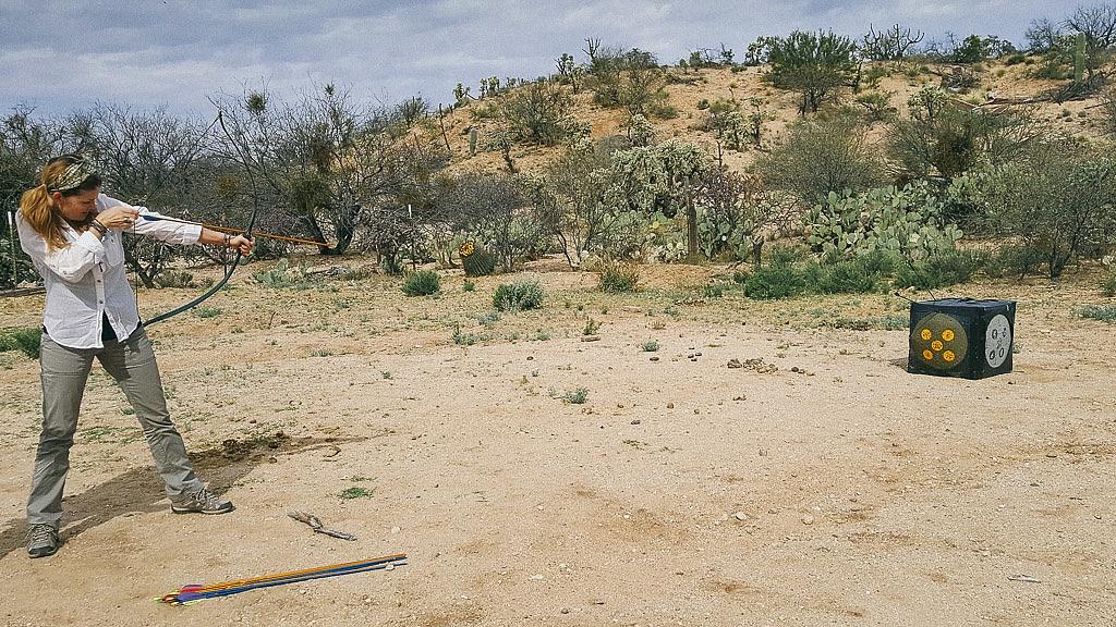 Juliana Dever archery target - Learn to be a cowboy Tucson Arizona Sonoran Desert
