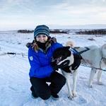 Juliana Dever Dog Sledding - Visiting Iceland in Winter