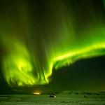 Northern Lights Vik Iceland horz