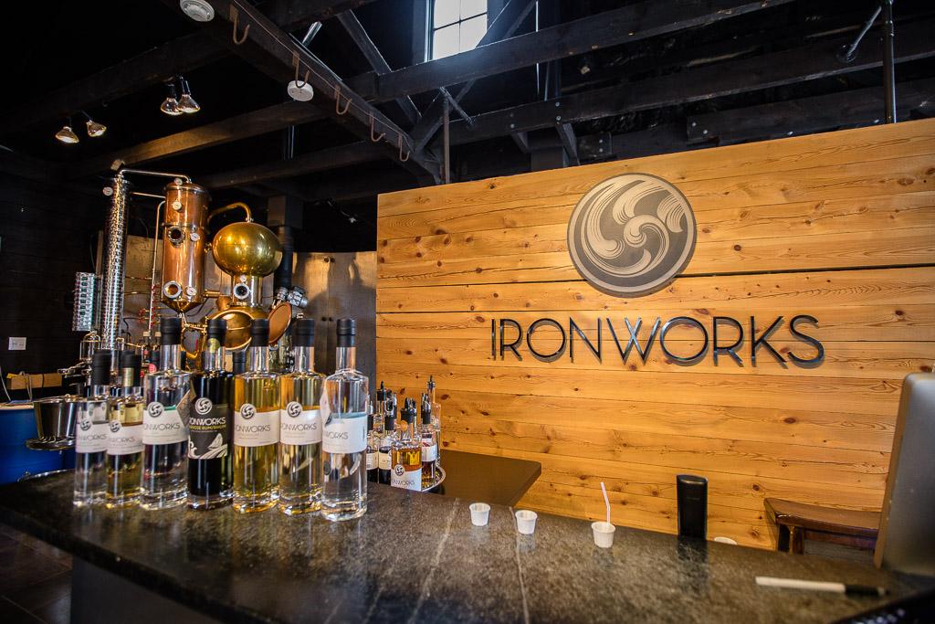 Ironworks Distillery Tasting Desk Lunenberg Nova Scotia