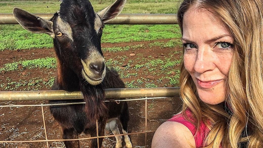 Juliana Dever goat selfie