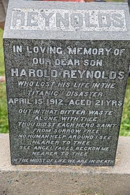 Titanic Halifax Fairview Titanic Cemetery Harold Reynolds