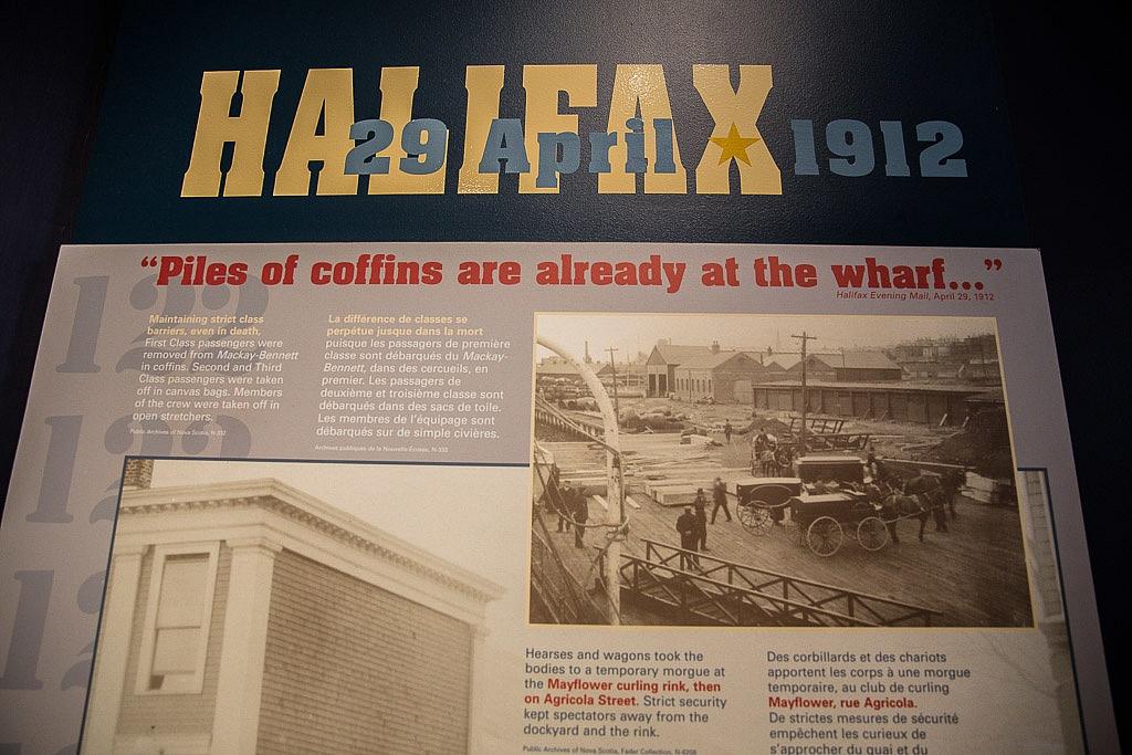 Halifax Maritime Museum Piles of coffins