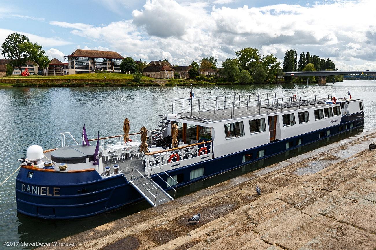 GAdventures Daniele boat canal cruise Burgundy France
