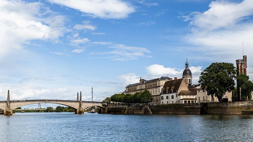 St. Jean the lock town Burgundy France
