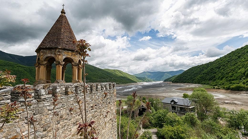 Georgia the country Ananuri church and citadel