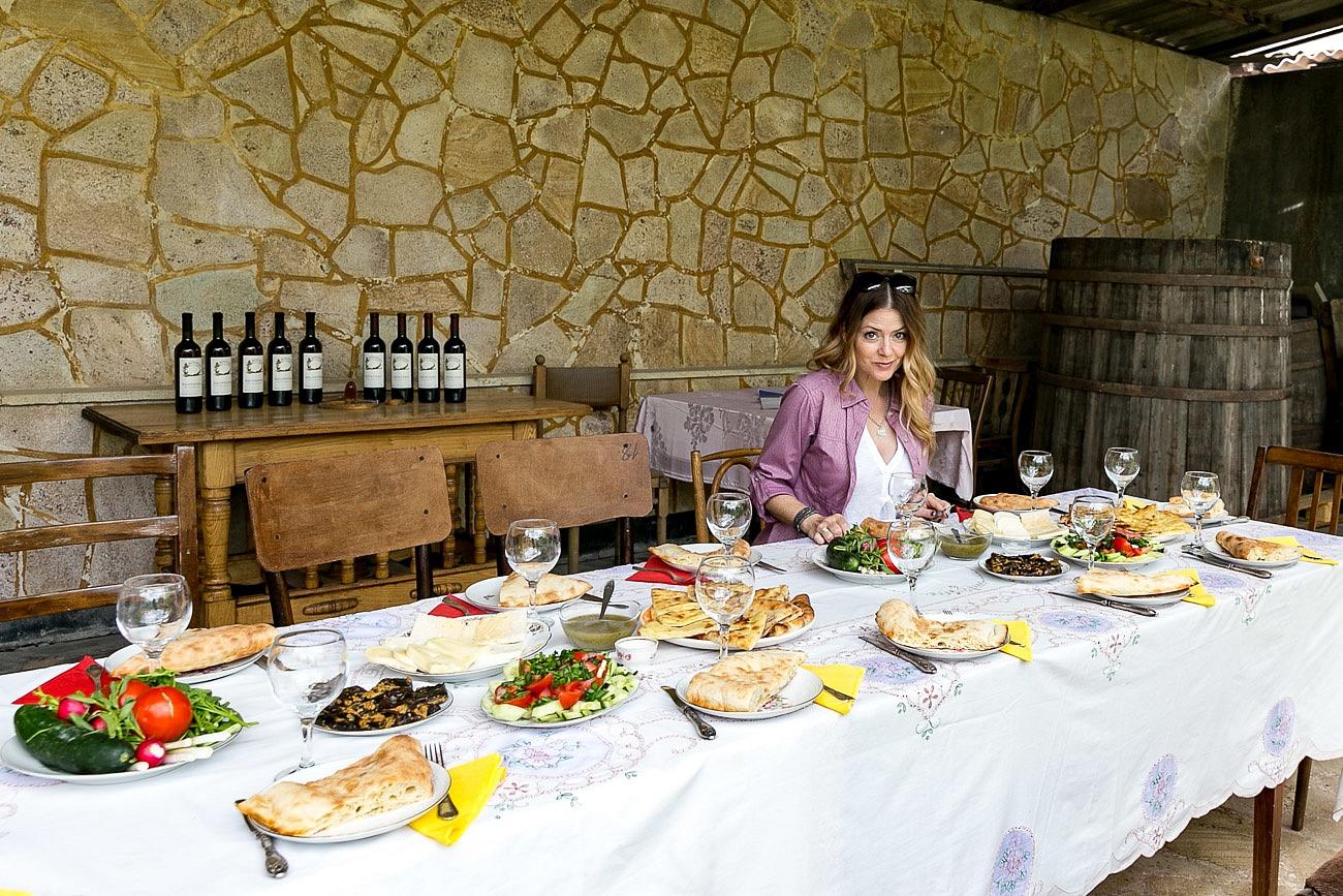 Georgian Food Juliana Dever guest table