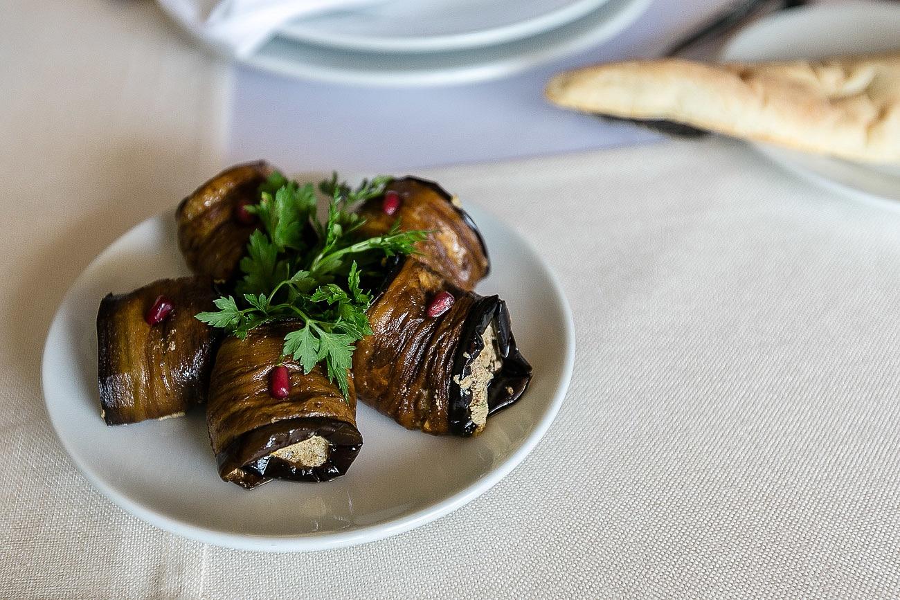 Georgian food Badrijani Nigvzit