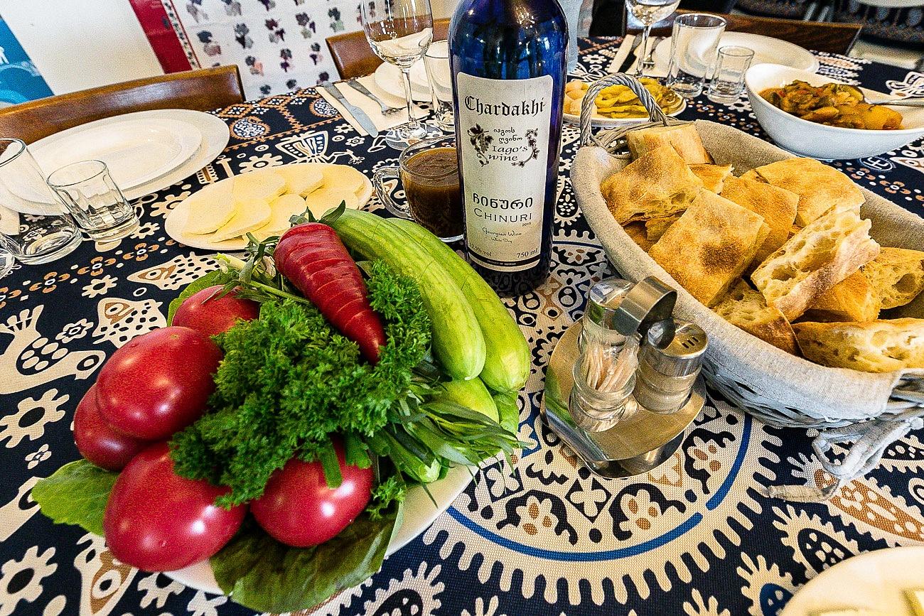 Georgian food - fresh vegetables