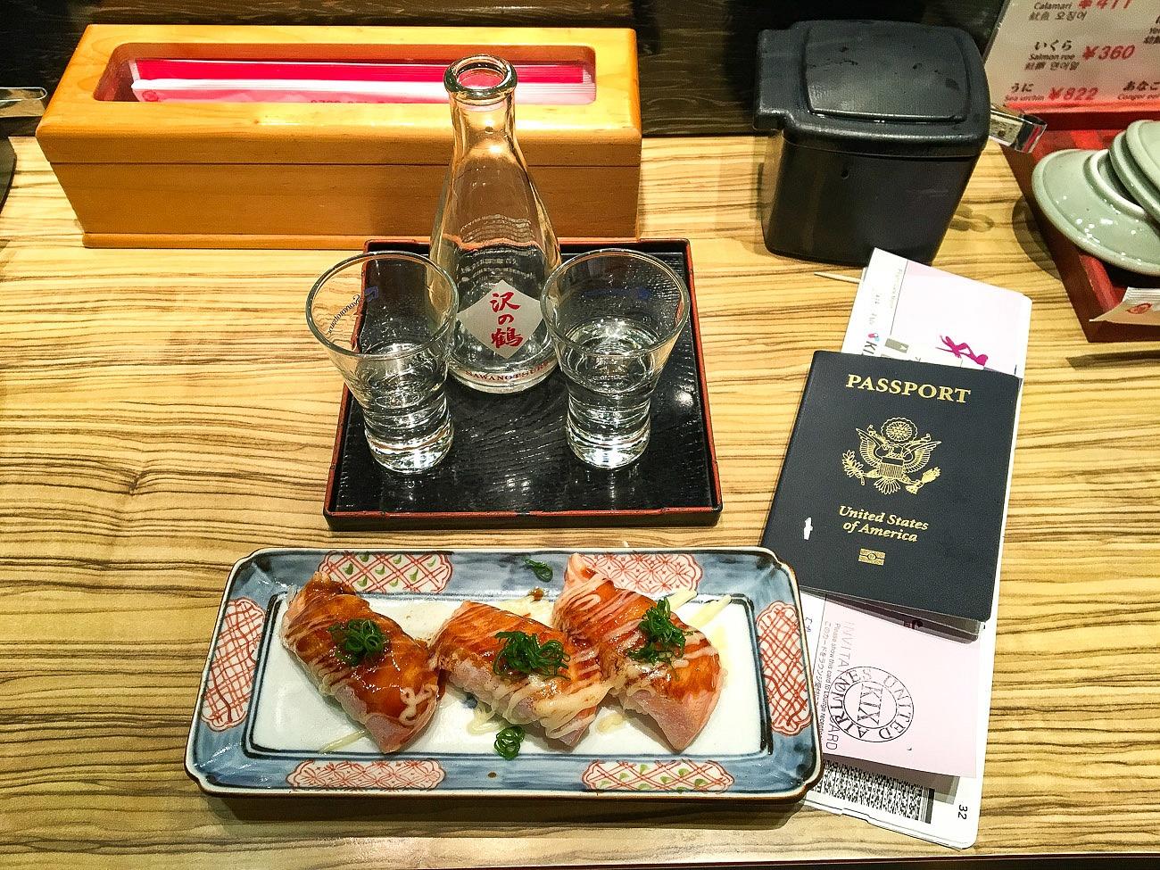 Honmamon sushi restaurant Kansei airport