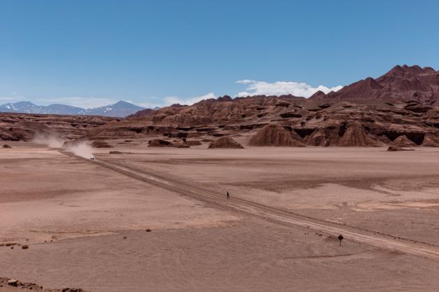Devil's Desert Salta Argentina Lone Car