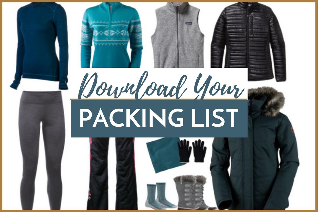 Sub Arctic Packing List