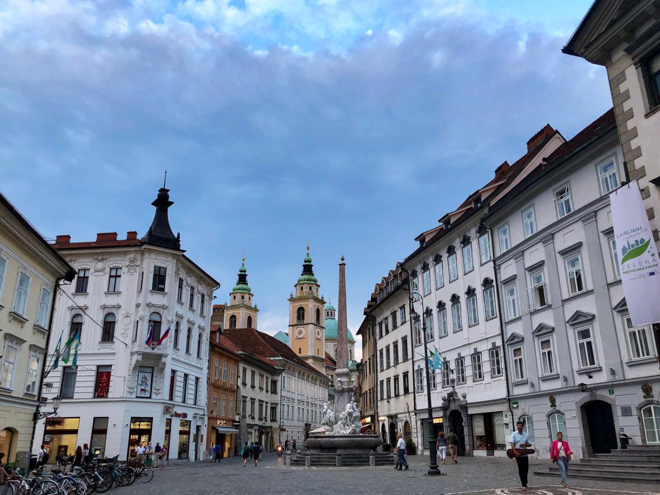 Mestni Square Ljubljana Slovenia