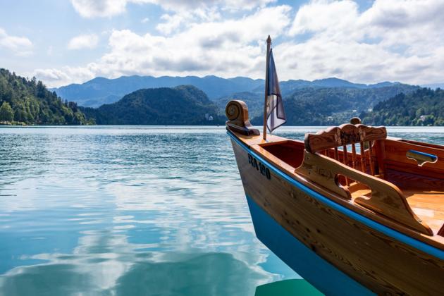 Pletna Nose Lake Bled Slovenia