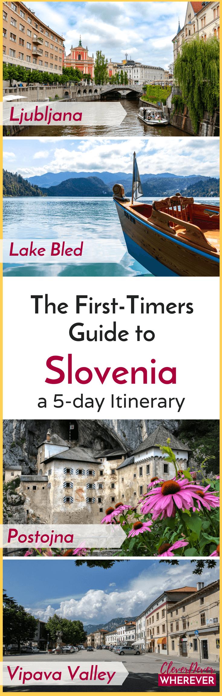 Plan a trip to Slovenia with this 5 day itinerary and restaurant guide #Slovenia #SloveniaTravel #Europe #EuropeTravel #LakeBled #Ljubljana #PostojnaCaves