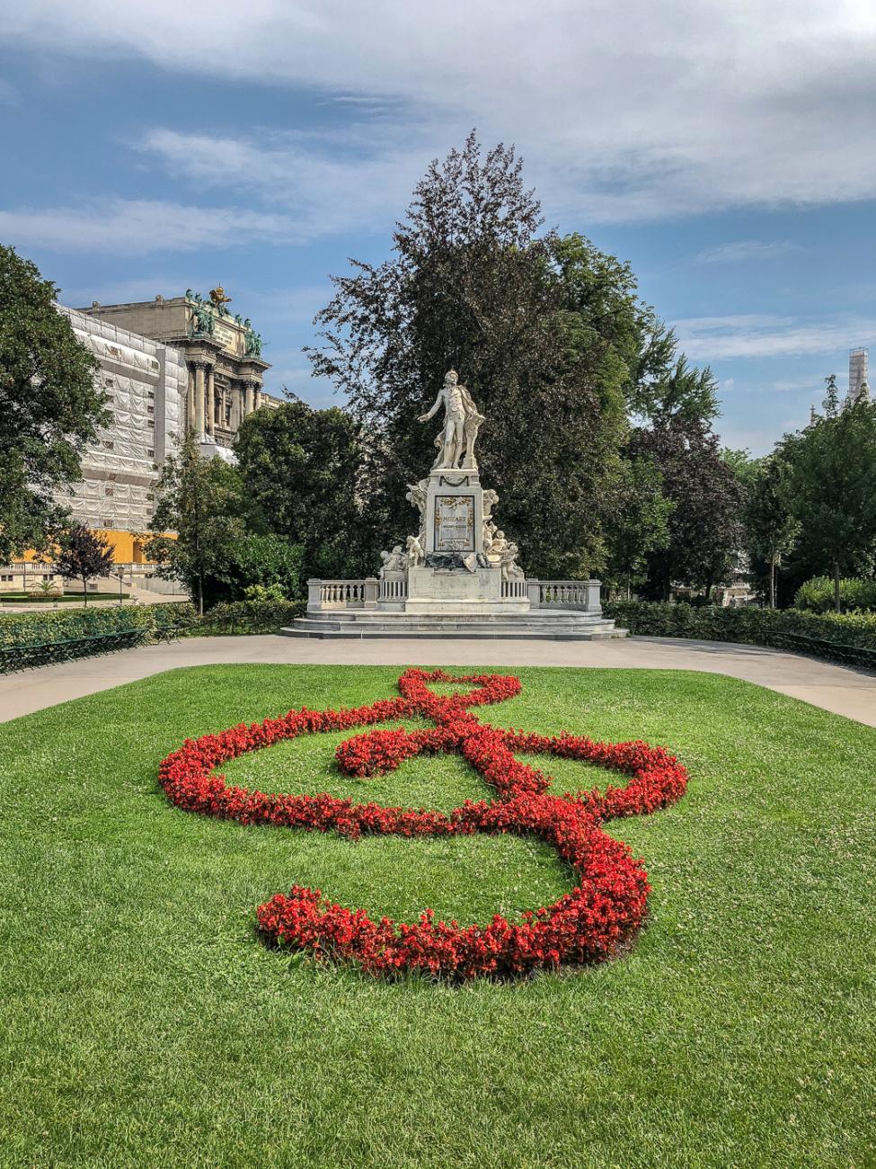 Mozart Statue Vienna Austria