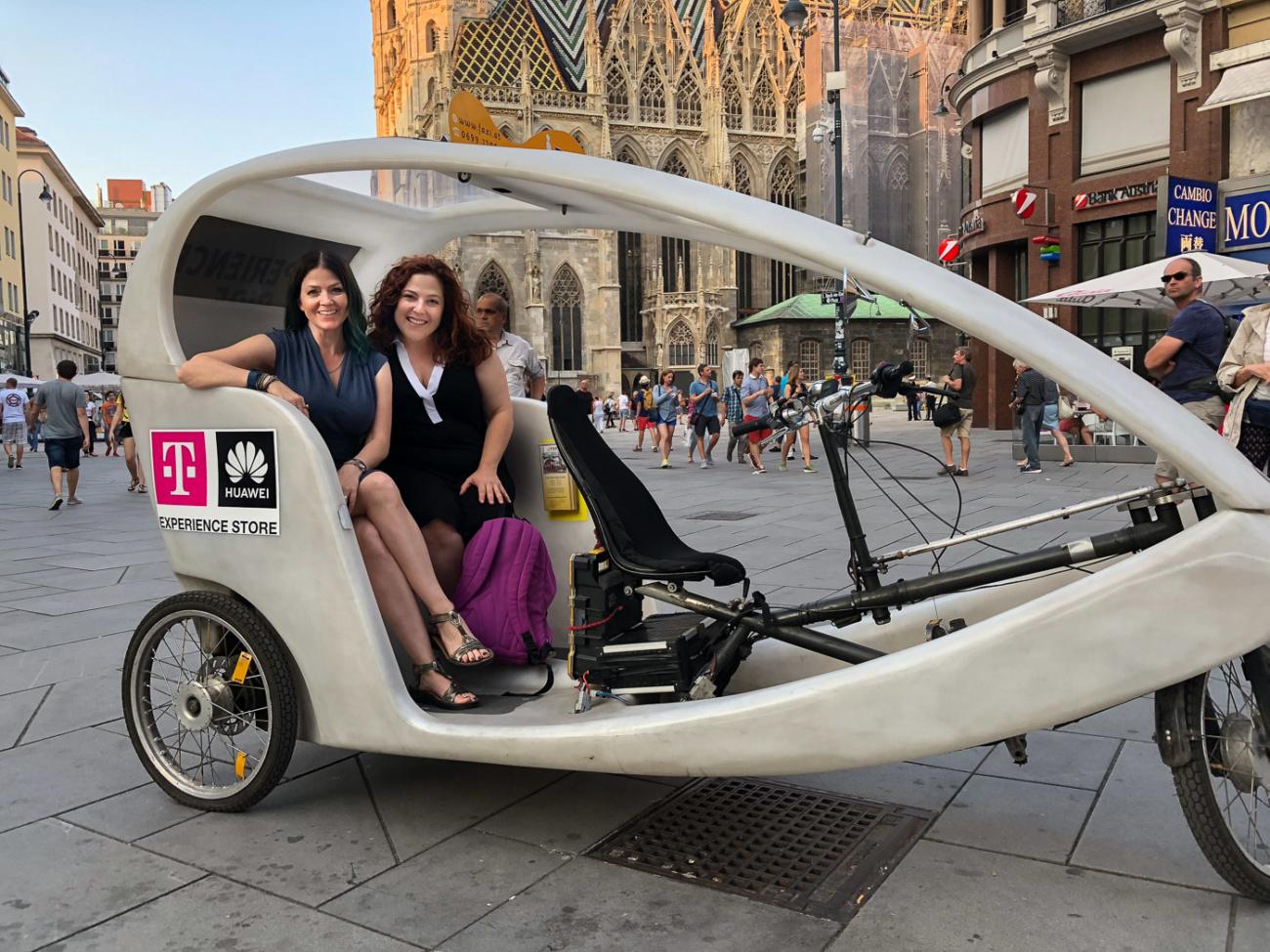 Juliana Dever Rachel Leah Cohen pedicab Vienna Austria