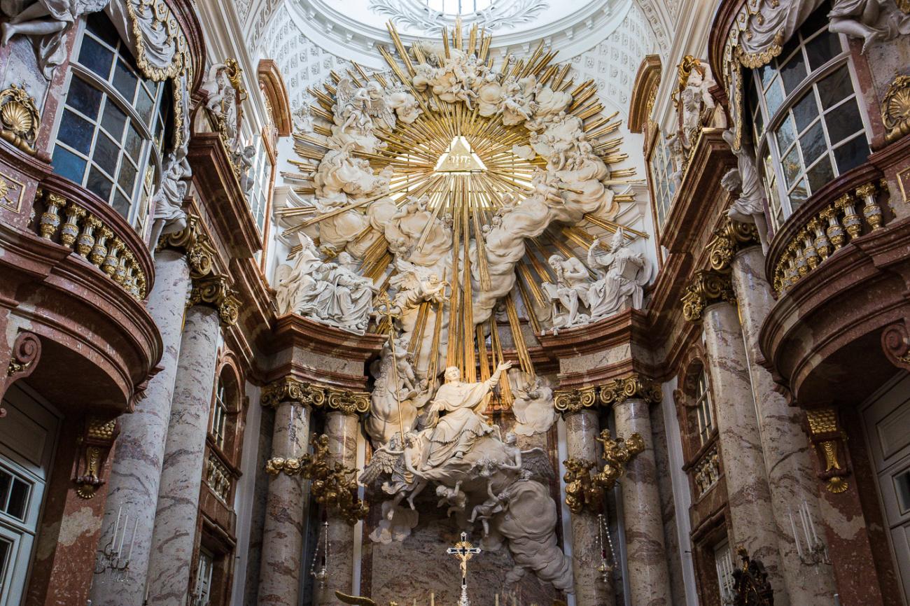 St. Charles Church Karlskirke interior Vienna Austria