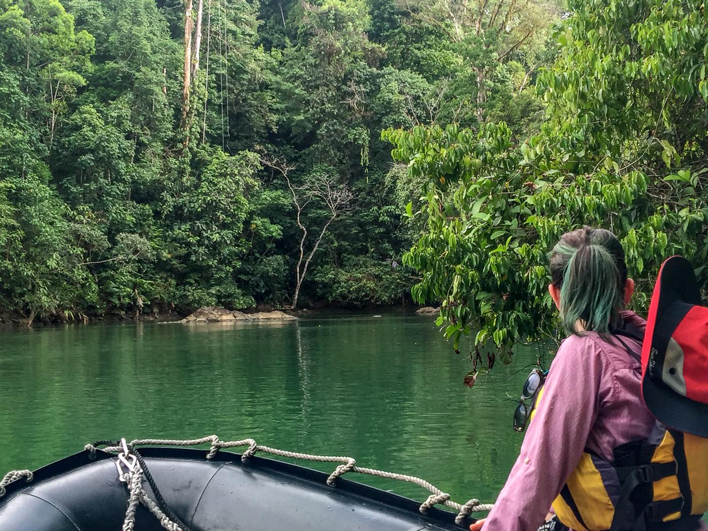 Juliana Dever skiffing Costa Rica UnCruise adventure cruise